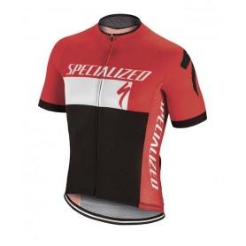 Maillot corto Specialized RBX COMP en rojo y negro.