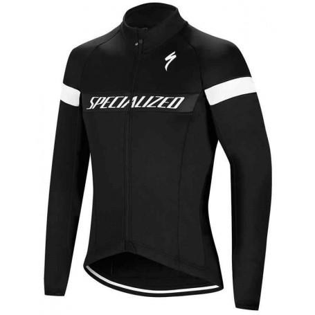 Chaqueta Specialized Element RBX Sport Logo Negra y Blanca