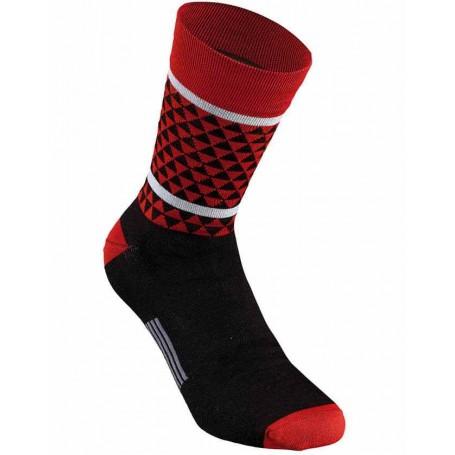 Calcetines Specialized SL Triangle invierno Negro Rojo
