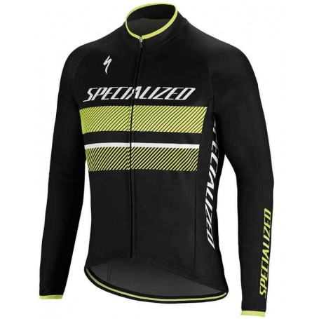Maillot Specialized Element RBX Comp Logo LS Negro Amarillo