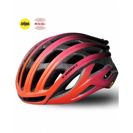 Specialized S-Works Prevail II ANGI MiPS Helmet Acid Lava