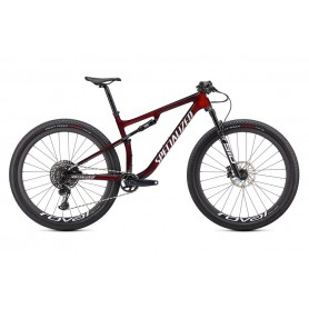 Bicicleta Specialized Epic Expert 2021 en color rojo granate