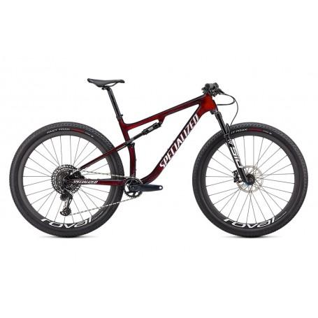 Bicicleta Specialized Epic Expert 2021 en color rojo granate