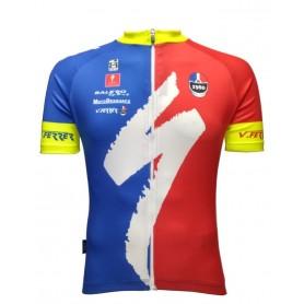 Gobik Basic VFerrer Man short sleeve jersey blue-red sleeves