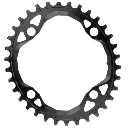 Absolute Black Oval 104 & 64 BCD 34T Chainring