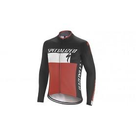 Chaqueta Specialized Therminal RBX Comp Logo LS negro rojo