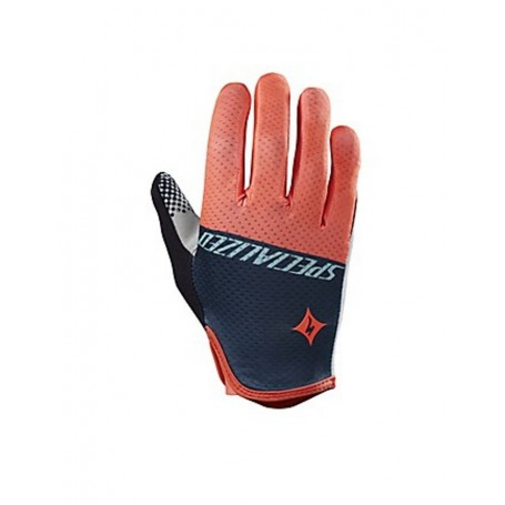Specialized woman BG Gel long finger gloves neon coral