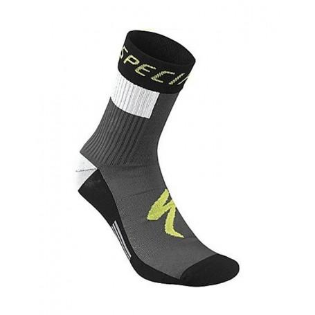 Calcetines Specialized RBX Comp Logo Winter amarillo neon negro