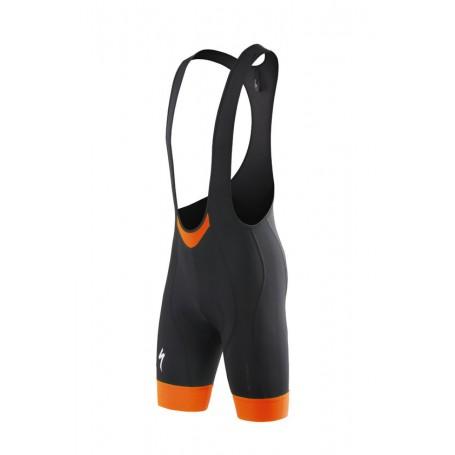 Culotte corto Specialized SL EXPERT color negro y naranja