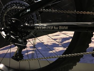 Details of the collaboration of Specialized and BMW in this Turbo Levo